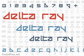 Delta Ray Font