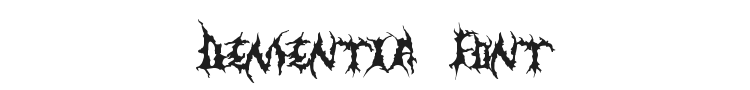 Dementia Font
