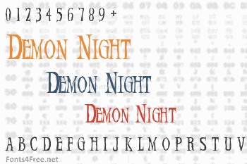 Demon Night Font