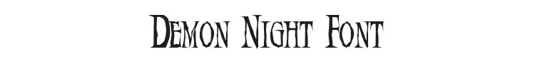 Demon Night Font Preview