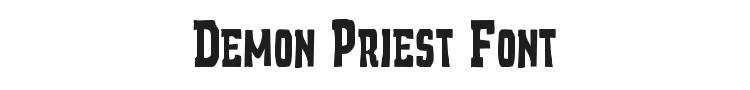 Demon Priest Font Preview