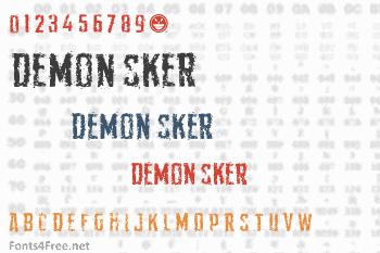 Demon Sker Font