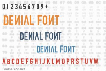 Denial Font
