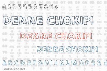 Denne Chokipi Font