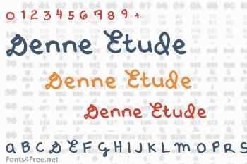 Denne Etude Font