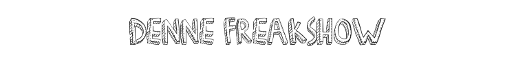 Denne Freakshow Font Preview