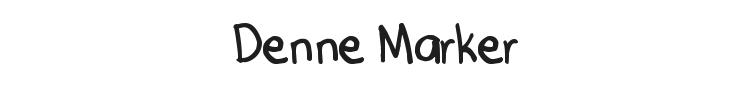 Denne Marker Font Preview