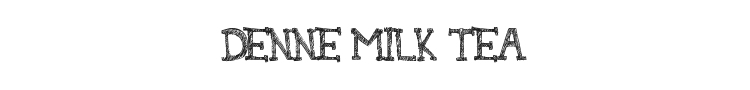 Denne Milk Tea Font Preview