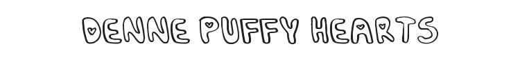 Denne Puffy Hearts Font Preview