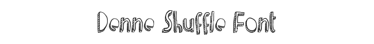 Denne Shuffle Font Preview