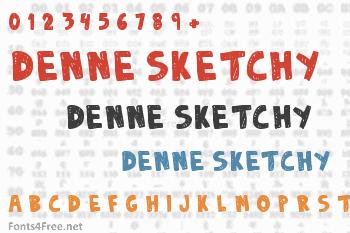 Denne Sketchy Font