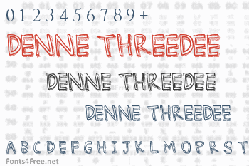 Denne Threedee Font