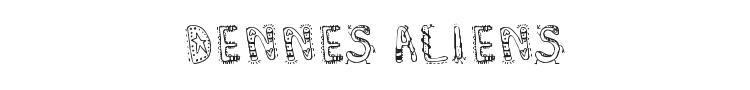 Dennes Aliens Font