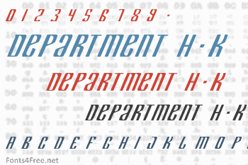 Department H+K Font