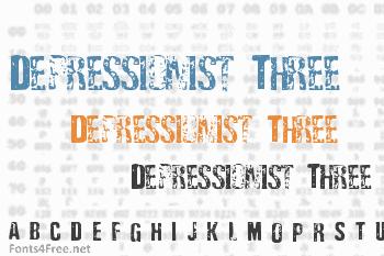 Depressionist Three Font