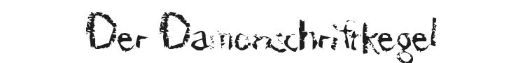 Der Damonschriftkegel Font Preview