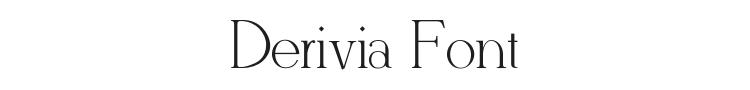 Derivia Font Preview