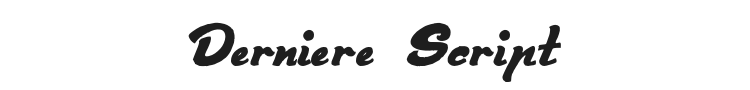 Derniere Script Font Preview