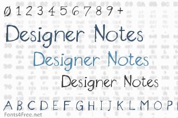 Designer Notes Font