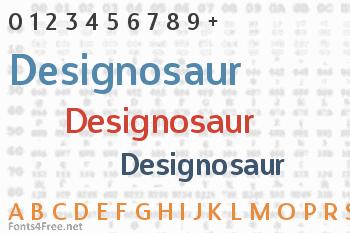 Designosaur Font