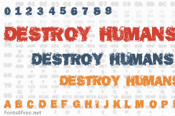 Destroy Humans Font