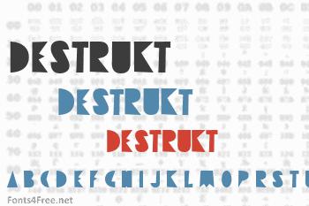 Destrukt Font