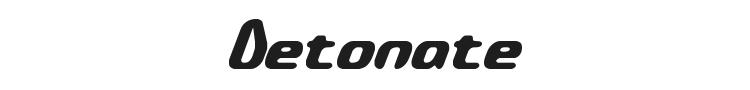 Detonate Font