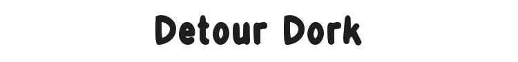 Detour Dork Font