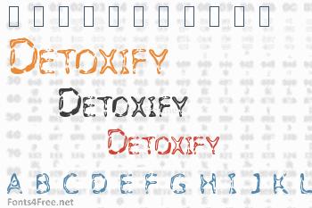 Detoxify Font