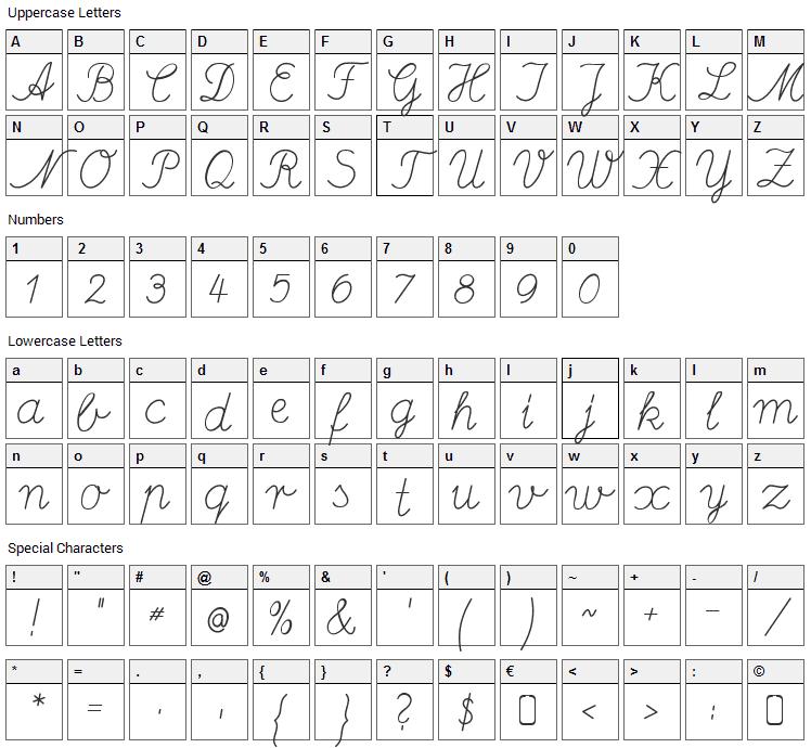 Deutsche Normalschrift Font Character Map