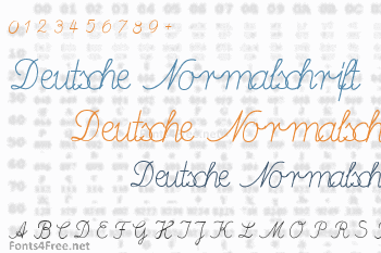Deutsche Normalschrift Font
