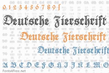 Deutsche Zierschrift Font