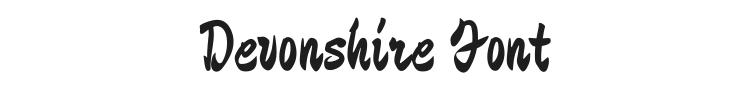 Devonshire Font