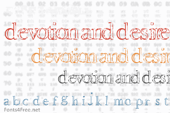 Devotion and Desire Font