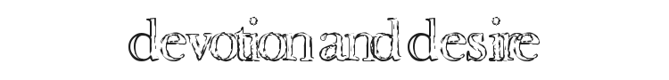 Devotion and Desire Font Preview