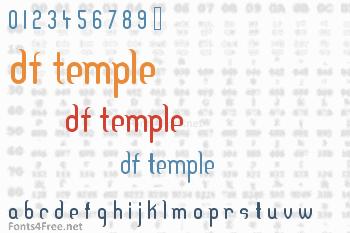 DF Temple Font
