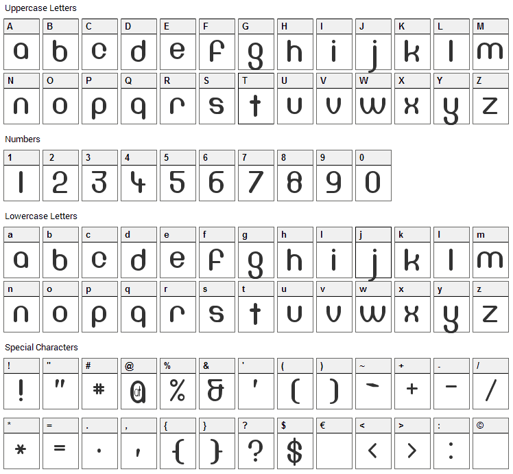 DF667 Chlorine Font Character Map