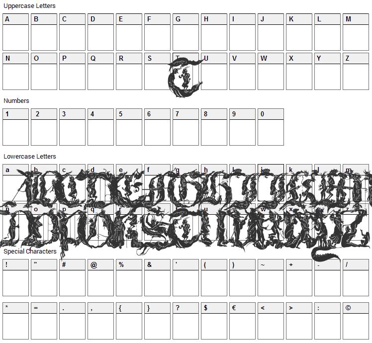 Diabolique Font Character Map