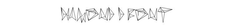 Diamond D Font Preview