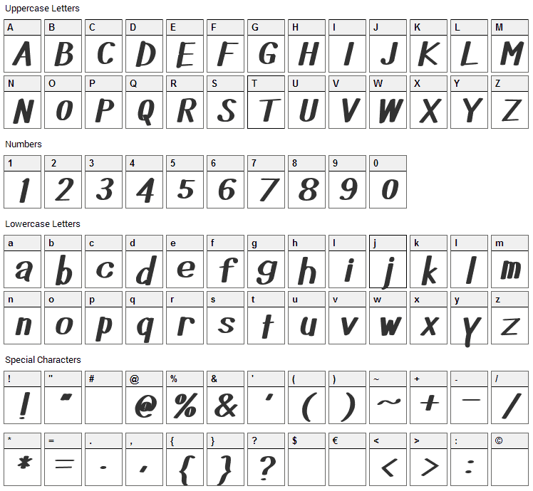 Did you see that Font Character Map