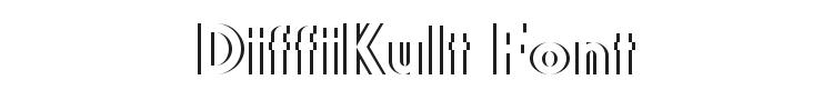 DiffiKult Font Preview