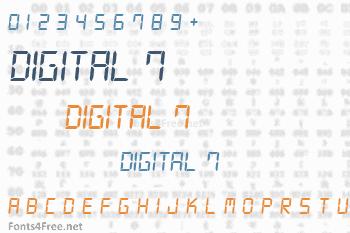 Digital 7 Font