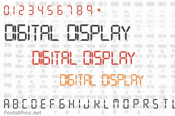 Digital Display Font