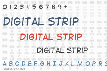 Digital Strip Font