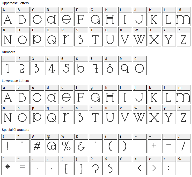 Diglossia Std Font Character Map