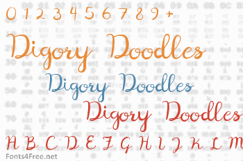 Digory Doodles Font