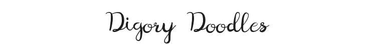 Digory Doodles Font Preview