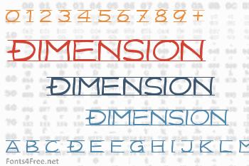 Dimension Font
