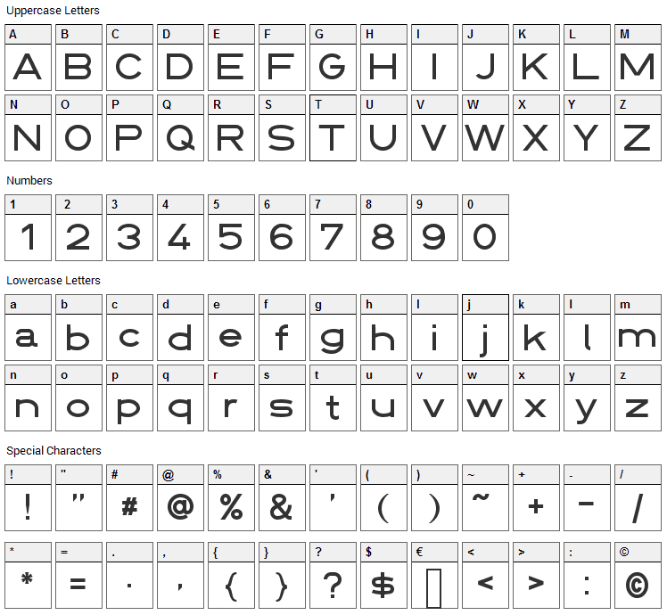 Din 1451 Font Character Map