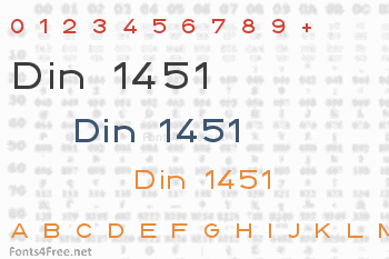 Din 1451 Font